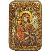Образ Божией Матери Троеручица, Настольная икона, 10 Х15