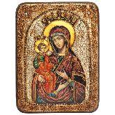 Образ Божией Матери Троеручица, Подарочная икона, 15 Х20