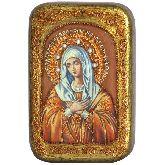 Образ Божией Матери Умиление Серафимо-Дивеевская, Настольная икона, 10 Х15