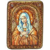 Образ Божией Матери Умиление Серафимо-Дивеевская, Подарочная икона, 15 Х20