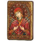 Образ Божией Матери Умягчение злых сердец, Настольная икона, 10 Х15