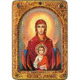 Образ Божией матери Знамение, Живописная икона, 21Х29