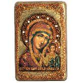 Образ Казанской Божией Матери, Настольная икона,  10 Х15