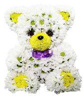 """Игрушка из цветов """"Очаровательный мишка"""""""