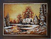 Очаровательный зимний пейзаж из янтаря