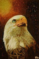 Картина из янтаря Орел