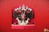 Фарфоровый штоф Орел (цветной с золотом)