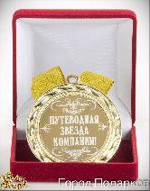Медаль подарочная Путеводная звезда компании!
