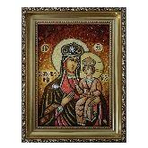 Озерянская Богородица икона из янтаря