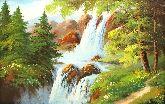 "Картина на холсте ""Сказочный водопад"""