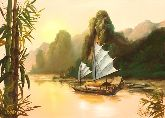 "Картина на холсте ""Прогулка по реке"""