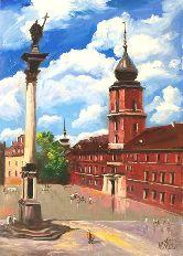 "Картина на холсте ""Замковая площадь"""