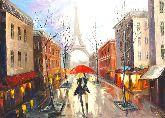 """Картина на холсте """"На улицах Парижа"""""""
