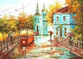 """Картина на холсте """"Елоховская церковь на Бауманской"""""""