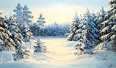 """Картина на холсте """"Зимняя сказка"""""""