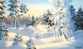 """Картина на холсте """"В лучах зимнего солнца"""""""
