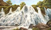 """Картина на холсте """"Шакинский водопад в Армении"""""""