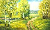 "Картина на холсте ""Прогулка на пруд"""
