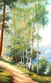 """Картина на холсте """"Лето в лесу"""""""