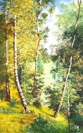 """Картина на холсте """"Летний лес"""""""