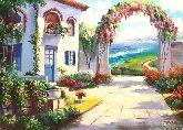 "Картина на холсте ""Город на море"""