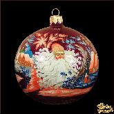 Елочный шар ручной работы Морозко палех. Художник Становкова