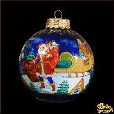 Елочный шар ручной работы С Рождеством! палех. Художник С. Терентьев