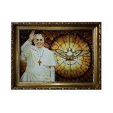 Папа Франциск портрет из янтаря