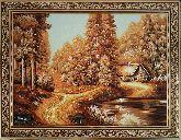 Пейзаж осенний лес из янтаря