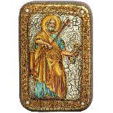 Первоверховный апостол Петр, Настольная икона,10 Х15