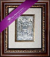 Икона Пётр и Февронья, рамка художественный багет, 100х150