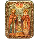 Петр и Февронья, Аналойная икона, 21 Х29