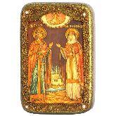 Петр и Февронья, Настольная икона, 10 Х15