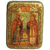 Петр и Февронья, Подарочная икона, 15 Х20
