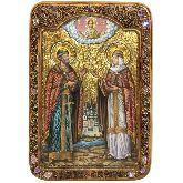 Петр и Февронья, Живописная икона, 29 Х42