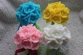 """Сувенирное мыло """"Букет цветов на стебле 3D"""""""