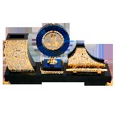 Письменный набор с медалью и часами