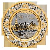 """Подарочная тарелка """"Вид на Кремль"""""""