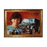 Портрет из янтаря - мальчик и мерседес