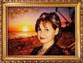 Портрет из янтаря на закате солнца