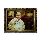 Портрет из янтаря Папа Римский Франциск