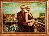Портрет прекрасная пара из янтаря