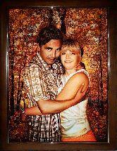 Портрет романтической пары из янтаря