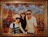Портрет семейный из янтаря