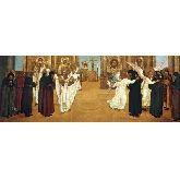 Купить икону Праведная жизнь монахов ПЖМ-01-2 36х96