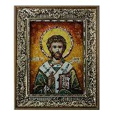 Праведный Лазарь Четверодневный икона из янтаря