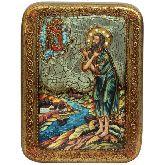 Преподобный Алексий, человек Божий, Подарочная икона, 15 Х20