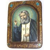 Преподобный Серафим Саровский чудотворец, Живописная икона, 21 Х29
