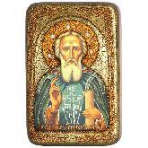Преподобный Сергий Радонежский чудотворец, Настольная икона, 10 Х15