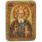 Преподобный Сергий Радонежский чудотворец, Подарочная икона, 15 Х20